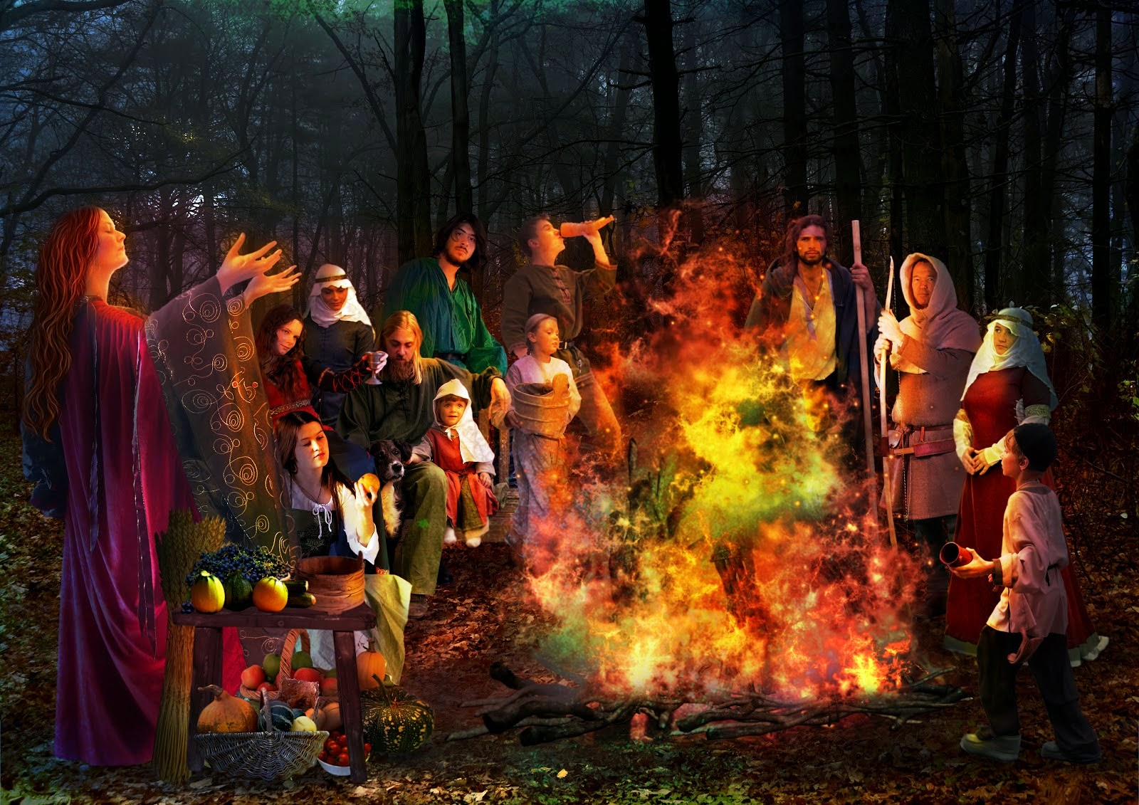 on the ancient celtic calendar the new year began november 1st and the samhain festival was like an ancient new years eve it was a festival to honor